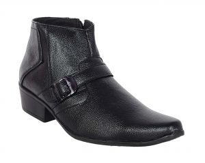 George Adam Mens Synthetic Leather High-class Elevated Black Boots (code - 15011_black_elaveted)