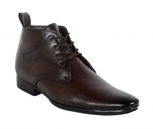 George Adam Mens Synthetic Leather Office Brown Boots (code - 16030_brown_office_boots)
