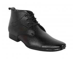 George Adam Mens Synthetic Leather Office Black Boots (code - 16030_black_office_boots)