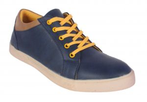 George Adam Mens Synthetic Leather Blue Casual Shoes (code - Yp_004_d_blue)