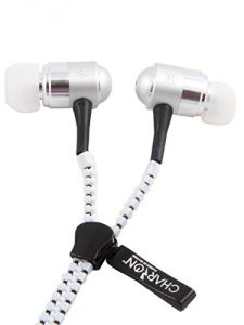 Zipper Earphones With Metal Finish, Attractive Colors