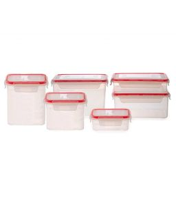 Incrizma Keep Fresh Polypropylene (pp) Rectangular Storage Containers (6 Pcs)