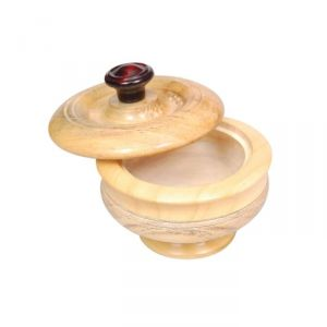 Onlineshoppee Kitchen Utilities (Misc) - Onlineshoppee Wooden Dry Fruit Box With Hand Carved design. Size (lxbxh-4.5 x 4.5 x 3) Inch,Pack Of 2 AFR1991