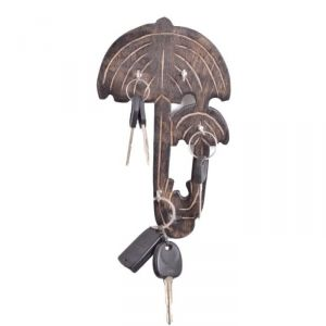Onlineshoppee Wooden Antique Umbrella Shaped Key Holder AFR2366