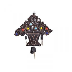 Onlineshoppee Wooden Antique Tree Shaped Key Holder AFR2367