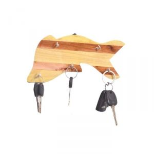 Onlineshoppee Wooden Antique Fish Shaped Key Holder AFR2368