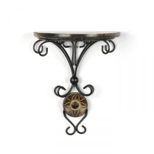 Onlineshoppee Home Utility Furniture - Onlineshoppee Beautiful wood & wrought iron Fancy wall bracket