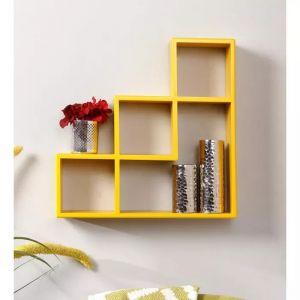 Onlineshoppee Home Utility Furniture - Onlineshoppee Wooden Handicraft Designer L Shape Wooden Wall Shelf AFR2823