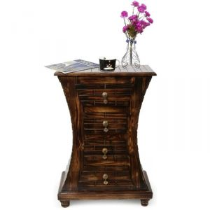 Living Room Furniture - Onlineshoppee Wooden Hand Carved Cabinet With Beautifully Design AFR339