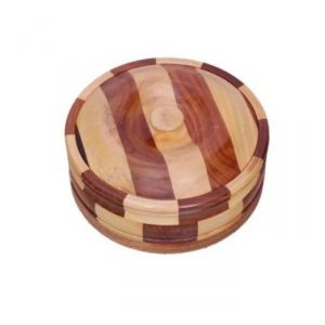 Onlineshoppee Kitchen Utilities (Misc) - Onlineshoppee Beautiful Wooden Antique Handcrafted Chapati Box