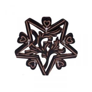 Onlineshoppee Wooden Key Holder In Star Shape With Handicraft Design AFR536