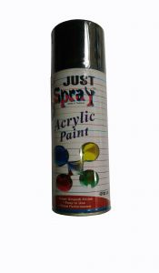 Just Spray Car Auto Multi Purpose Lacquer Spray Paint Heat Resistance Upto 600c/1200f Black Glossy (400ml)