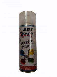 Just Spray Car Auto Multi Purpose Lacquer Spray Paint Flat (matt) Clear For Furniture Polish Etc. (400ml)