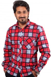 Favio Blood Red Casual Shirt