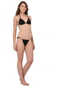 You Forever Solid Black Lingerie Set (code - Yf-bkblk)