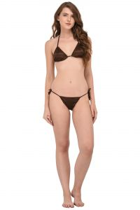 You Forever Solid Brown Lingerie Set (code - Yfbk-brn)