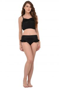 You Forever Black Lingerie Set (code - Yf-frlbp-blk)