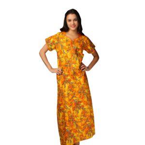 De'Moda Women's Yellow Nightgown (Code - DM16899-1-DM)