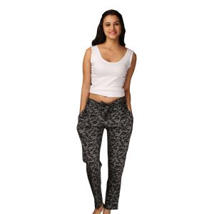 Pyjamas & lounge pants - De'moda Women's Grey Pajama (Code - DM9728-1-DM)