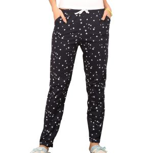 Pyjamas & lounge pants - De'Moda Women's Star Printed Pyjama (Code - DM9715-1-DM)