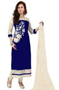 Dress Materials (Singles) - Sastu N Saru Women's Georgette Dress Materials(h124)