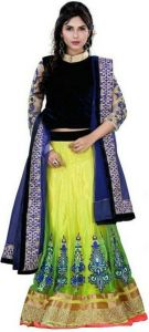 Shoppingekart Embroidered Semi-stitched Lehenga Choli Material - (code -peacock_lahengha)