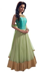 Anarkali Suits (Stitched) - New Latest Designer Green Georgette Anarkali Suit