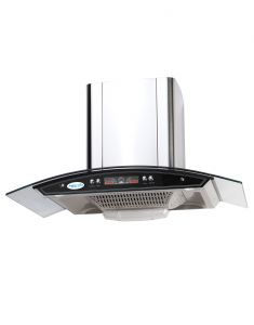 Home Decor ,Kitchen  - MEGLIO Glass Black Chimney _ AUTOSONIA_75