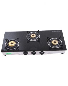 Gas stove & induction cookers - MEILLEUR Glass Black Gas Stoves _ CAREE_AI4