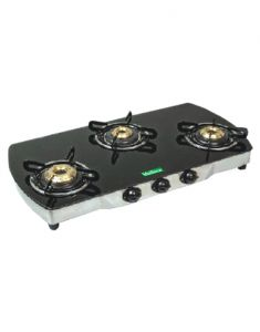Gas stove & induction cookers - MEILLEUR Glass Black Gas Stoves _ OVE_AI10