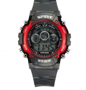 Silicon - Sillicon Round Boys /mens Analog Wrist Watch Red Design
