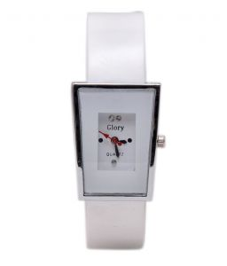 Women's Watches   Rectangular Dial   Analog   Other - Fancy Glory White Designer Analogue Wrist Watch for Women