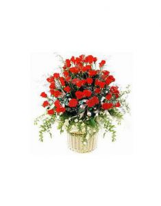 Gifts Valley 50 Red Roses Basket Gift Items