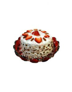 Gifts Valley Five Star Strawberry Cake - 1 Kg Gift Items