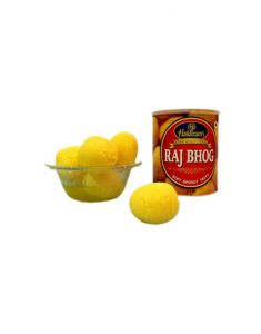 Rosogollas - Gifts Valley Rajbhog Haldiram Sweet Gift Items