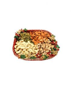 Gifts Valley Assorted Dry Fruits In A Basket 1 Kg Gift Items