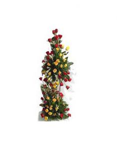 Gifts Valley 100 Roses Tall Basket Gift Items