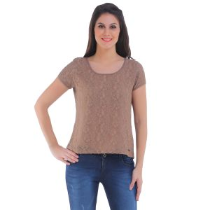 Meish Brown Solid Top For Women - Me125brn