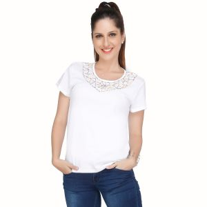 87b48a08c25 Cotton White Tops - Buy Cotton White Tops Online   Best Price in India