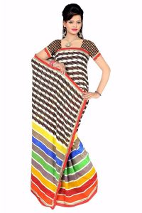Naaidaakho Gorgeous Multicolour Printed Saree - (code - 6002)