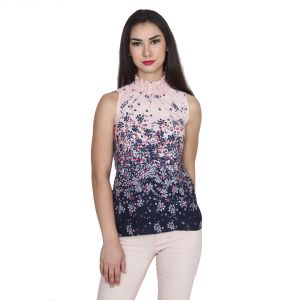 Tops & Tunics - Jollify Women's Poly crepe multi colored Top(Topclouesneck)