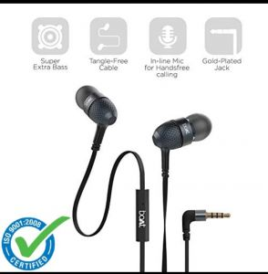 Earphones - boAt BassHeads 225 in-Ear Super Extra Bass