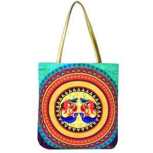 Mandala Canvas Travel Tote Bags