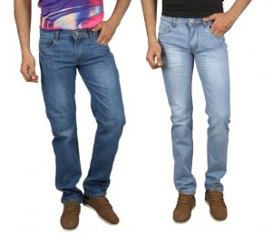 Jevaraz Men Cotton Blue Pack Of 2 Jeans Jvrz10203132