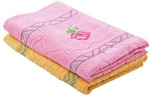 Maa Sharda Cotton Floral Towel - Set Of 2 (ms009)
