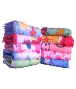 Xy Decor Multicolor Cotton Printed Face Towels - Set Of 10