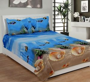 Furnishings - Trendz Exclucive 5d Cotton Double Bedsheet With 2 Pillow Covers - (code -vi1907)