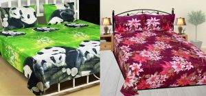 Milap Set Of 2 3d Design Double Bedsheet With 4 Pillow Covers
