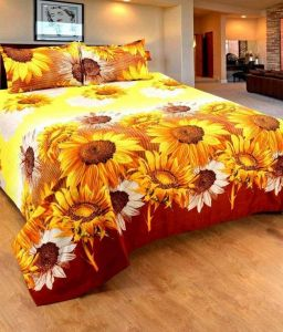 Bed Sheets - Trendz Exclucive 5d Cotton Double Bedsheet With 2 Pillow Covers - (code -vi1907)