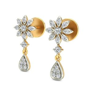 Prateek Exports 18K Gold and Diamond Dangle & Drop Earring